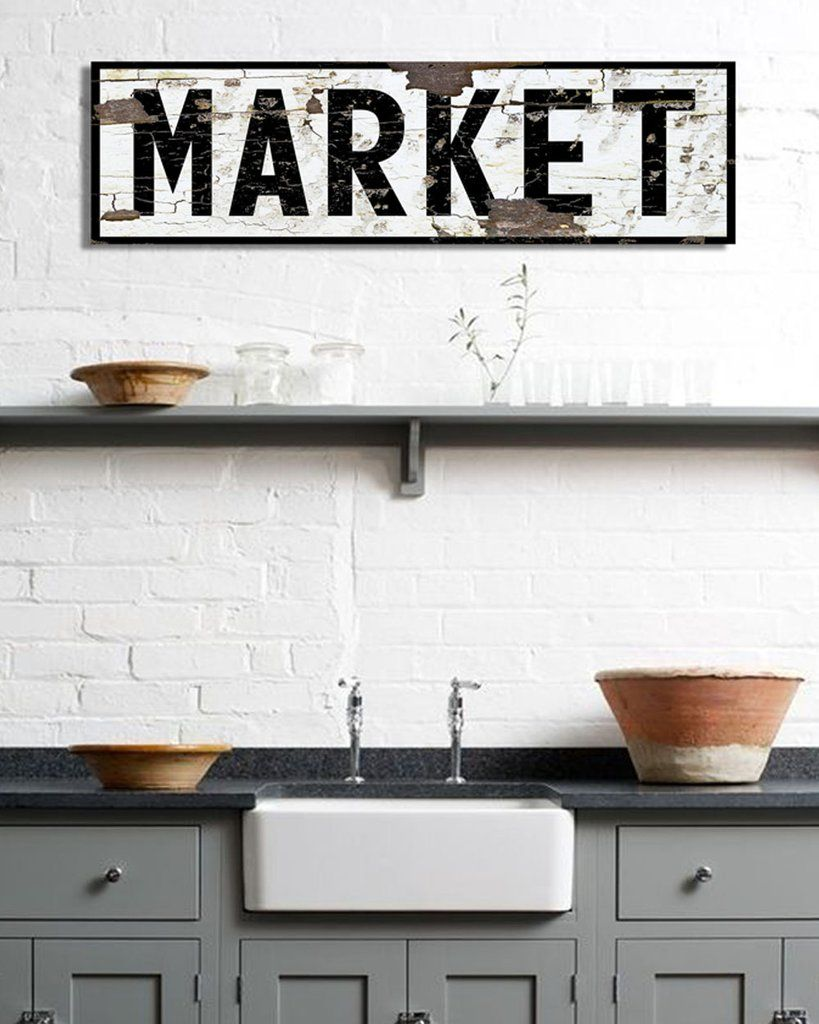 Large Market Sign For Kitchen Farmhouse Sign Wall Decor Extra