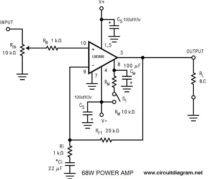 electronic circuit | Audio amplifier, Amplifier
