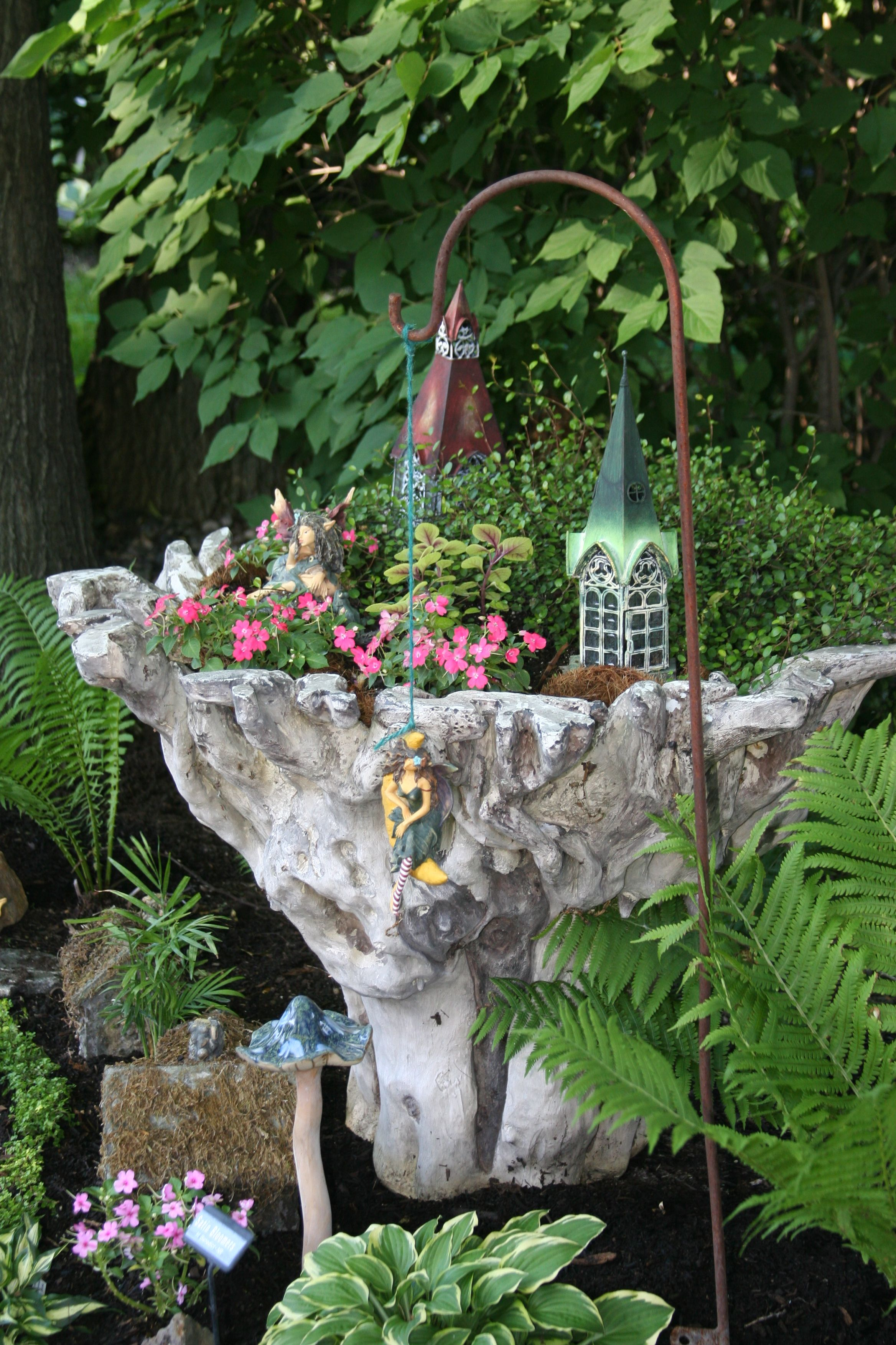 Pin by florence clark on fairy garden containers pinterest - How to make a fairy garden container ...