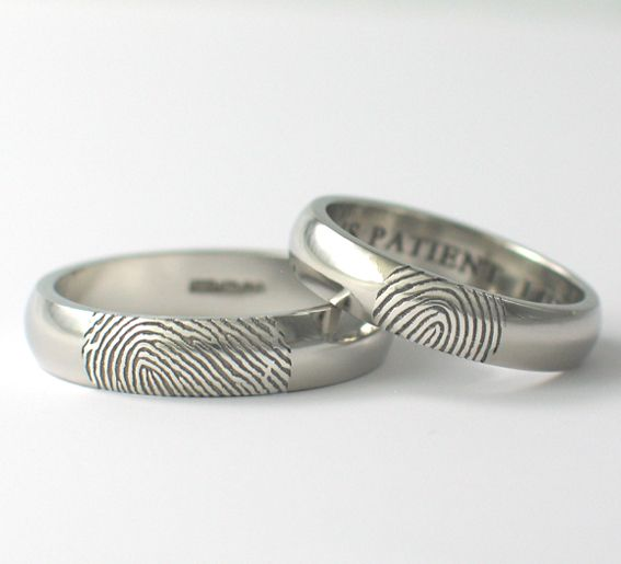 wedding ring with fingerprint google keress - Different Wedding Rings