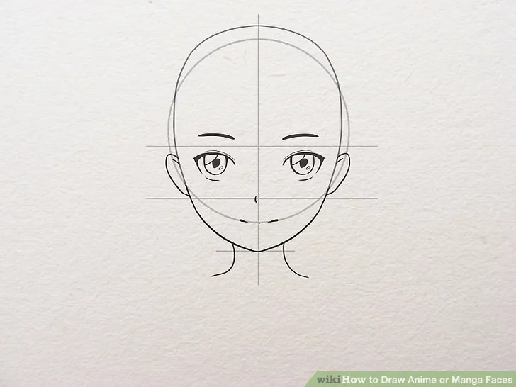 How To Draw Anime Or Manga Faces In 2020 Anime Face Shapes Anime Drawings Anime Head Shapes