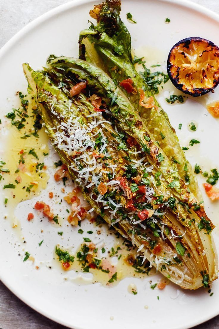 Photo of Grilled Romaine Salad with Charred Lemon Vinaigrette Recipe …