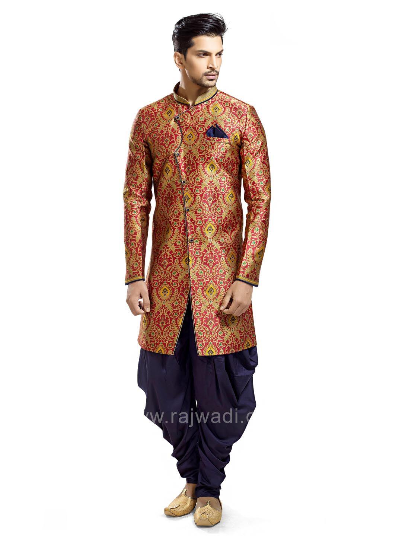 Red printed patiala suit rajwadi patialasuit classic mensfashion