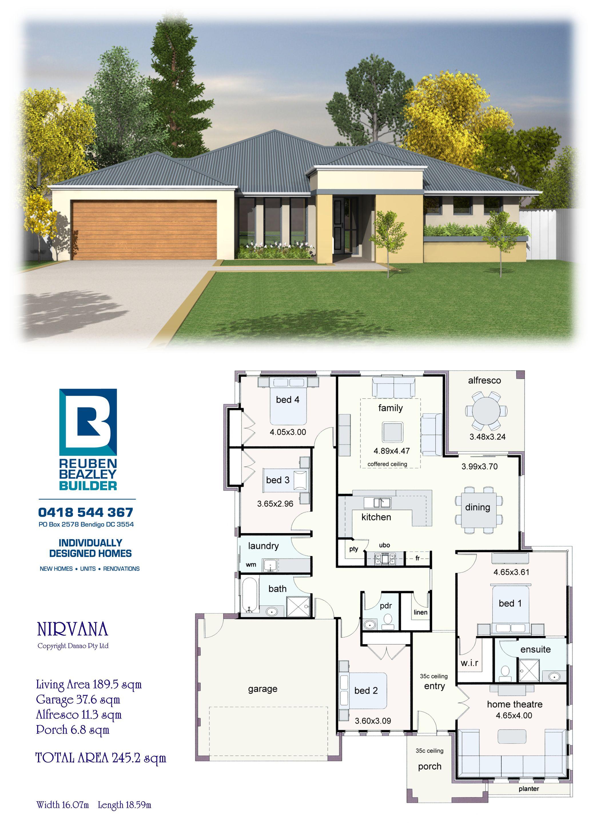 The Nirvana Model House Plan My House Plans Dream House Plans