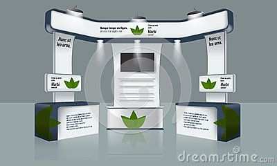 Trade Exhibition Stand Vector : Exhibition stand display trade booth mockup design white and grey