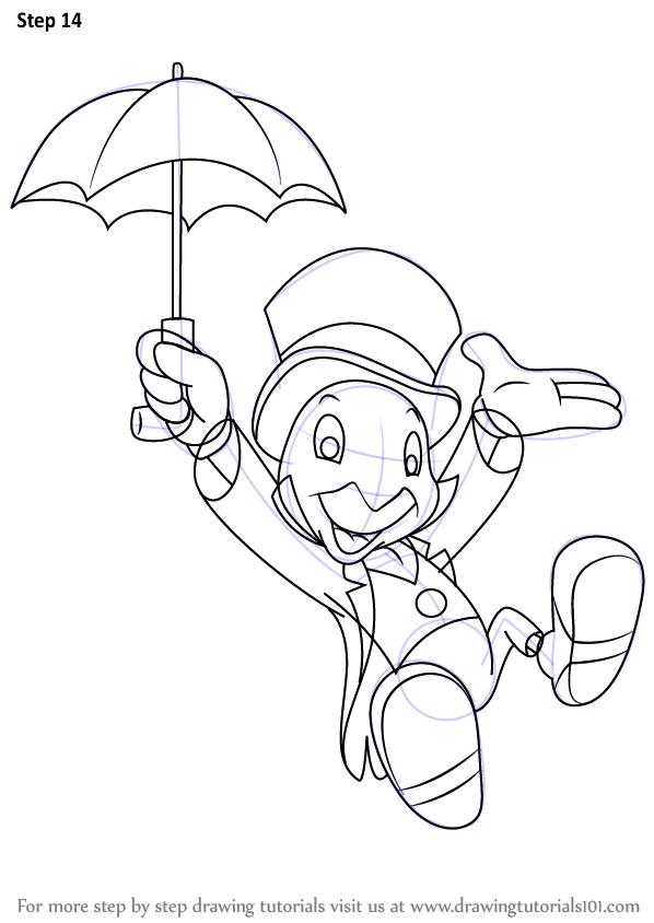 Jiminy Cricket Classic Cartoon Characters Disney Drawings Disney Art