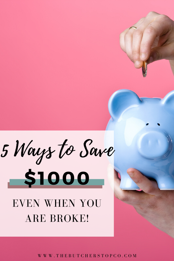 How To Save A 1,000 Emergency Fund Fast in 2020