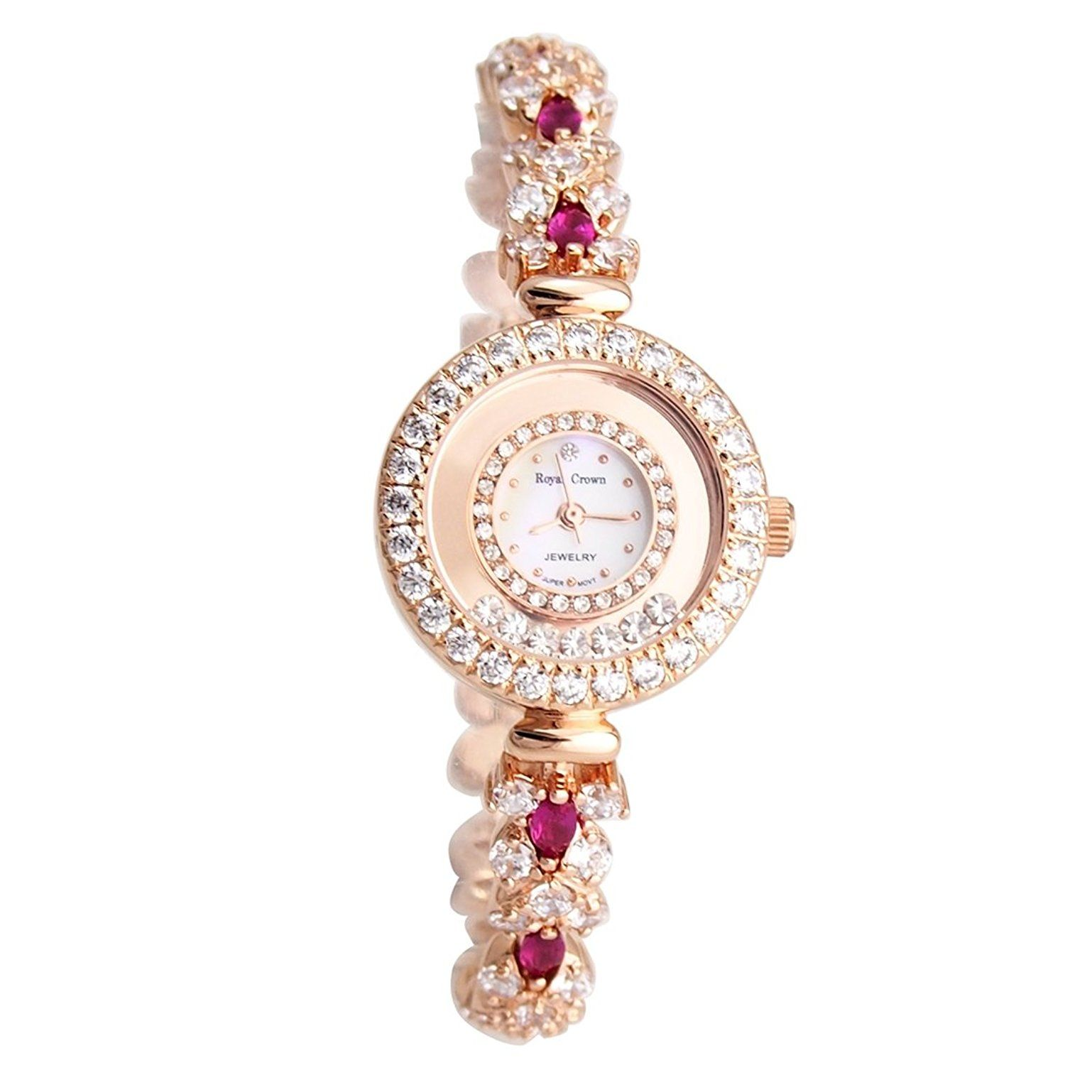 womens addic heart pink crystal strap with white watches women watch dial s love studded and baby
