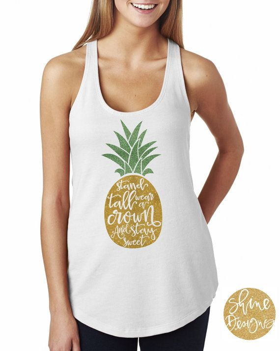 Be A Pineapple Stand Tall Wear A Crown /& Be Sweet Mens Tank Top Shirt