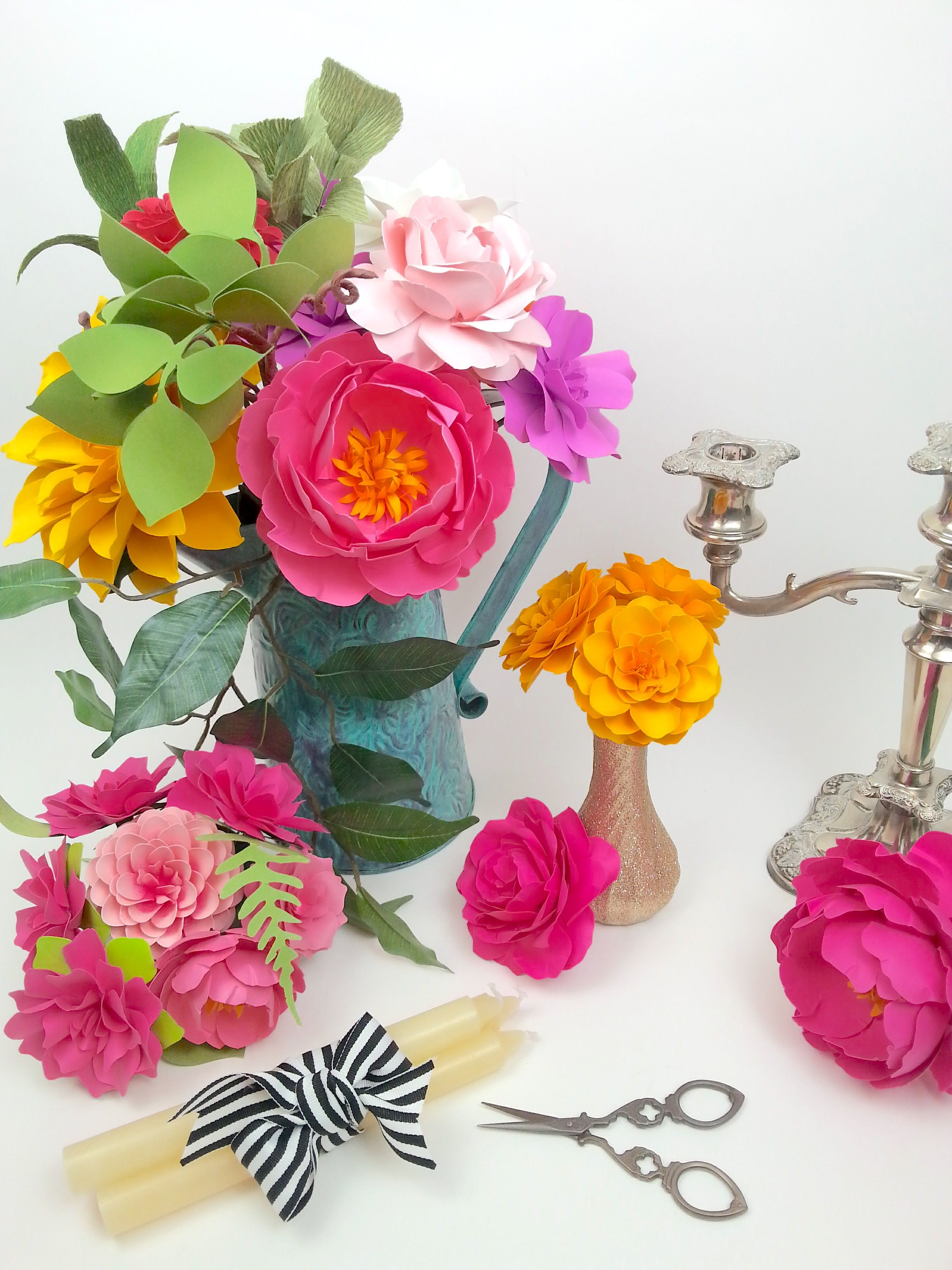 Handmade Paper Flowers By Paperpeony Learn To Make These Lovelies