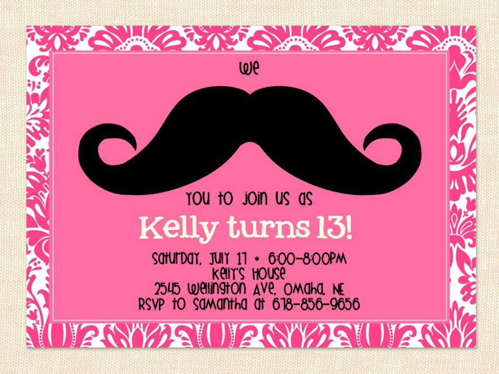 13th birthday invitations Google Search – Teenage Girl Birthday Party Invitations