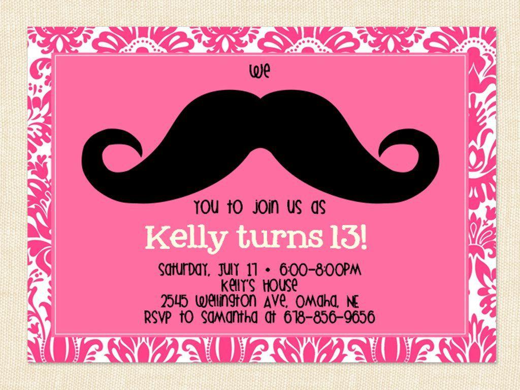 13th Birthday Party Invitation Ideas – BagVania Invitations Ideas ...