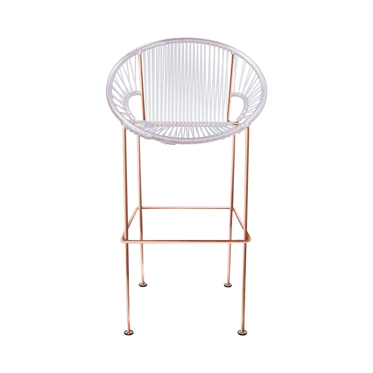 Corded Clamshell Chair   Copper Frame