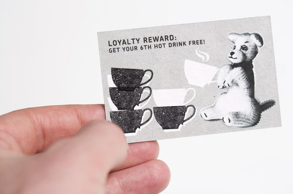 Interesting and unique loyalty card to be stamped for coffee. This ...