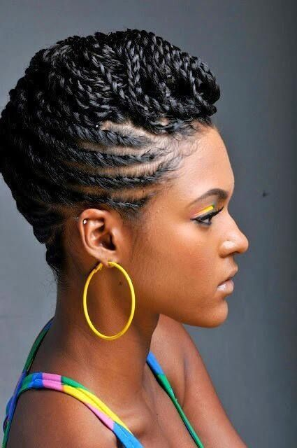 40 Chic Twist Hairstyles for Natural Hair | Flat twist, Natural and ...