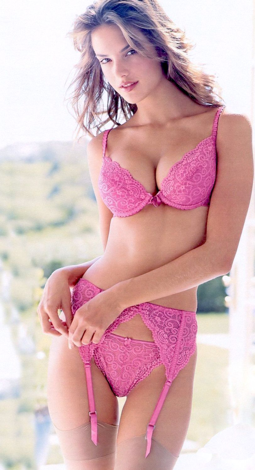 Ashley englich pink lingerie