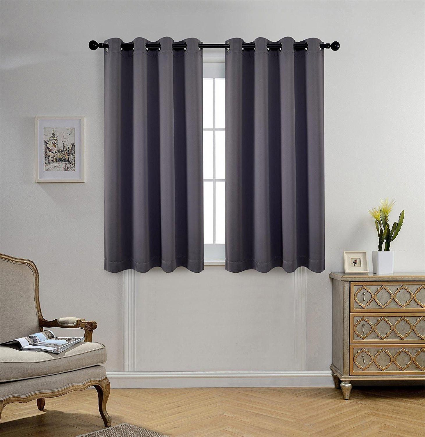 Room Darkening Thermal Insulated Blackout Grommet Window Curtains For Livin Curtains Living Room Living Room Decor Curtains Thermal Insulated Blackout Curtains