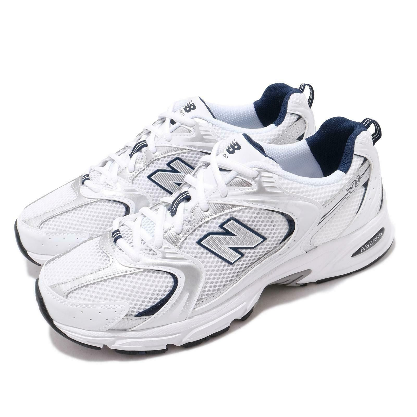 Details about New Balance 530 V2 Retro White Silver Navy Men ...