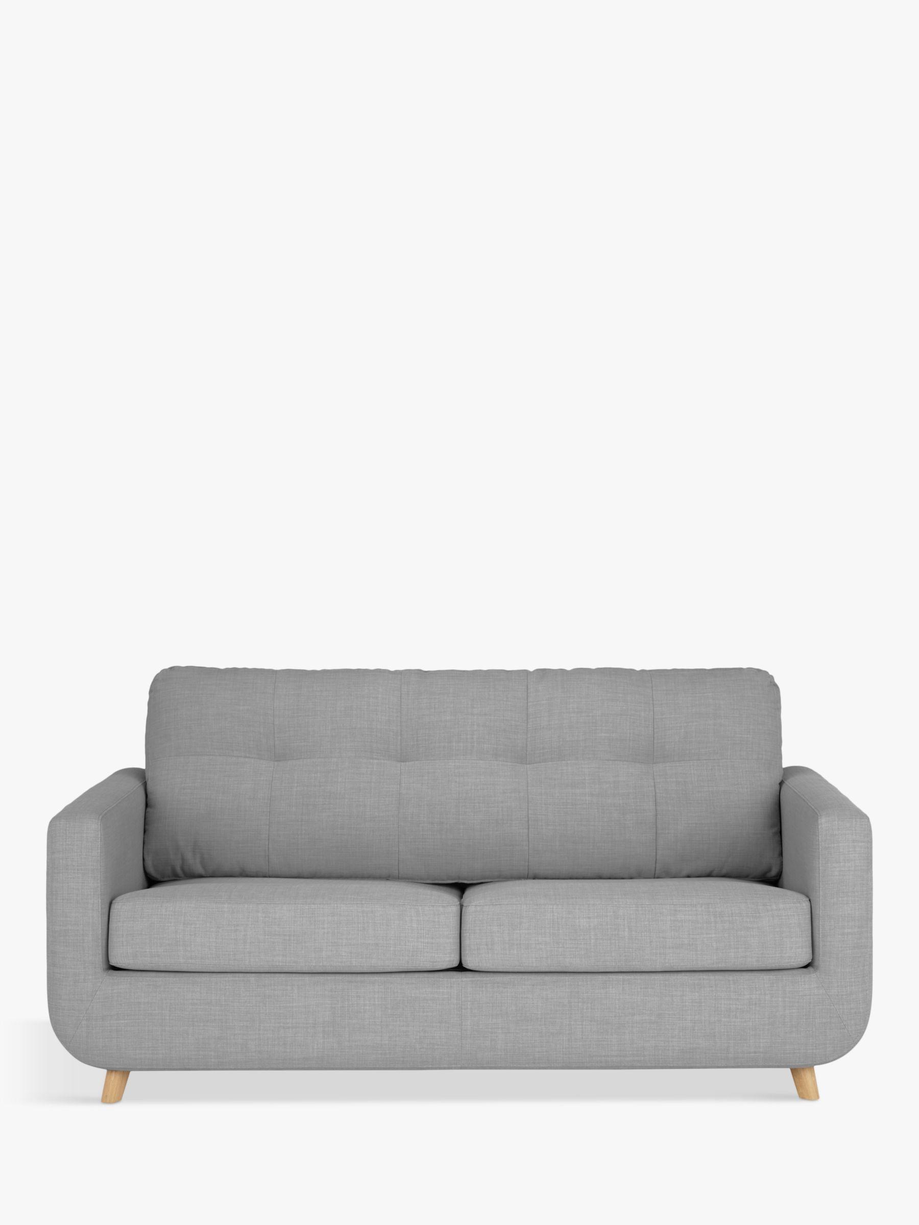 John Lewis Partners Barbican Medium 2 Seater Sofa Bed Light Leg Connie Grey In 2020 2 Seater Sofa Sofa Sofa Bed