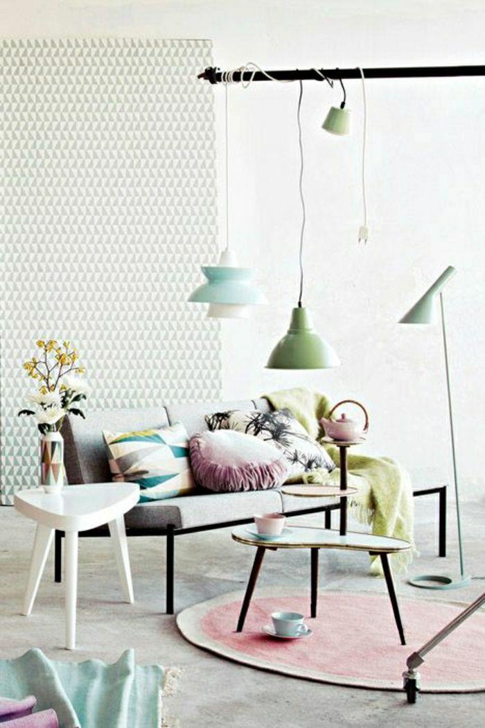 Adopter la couleur pastel pour la maison! Pastels, Interiors and - couleur pour salon moderne