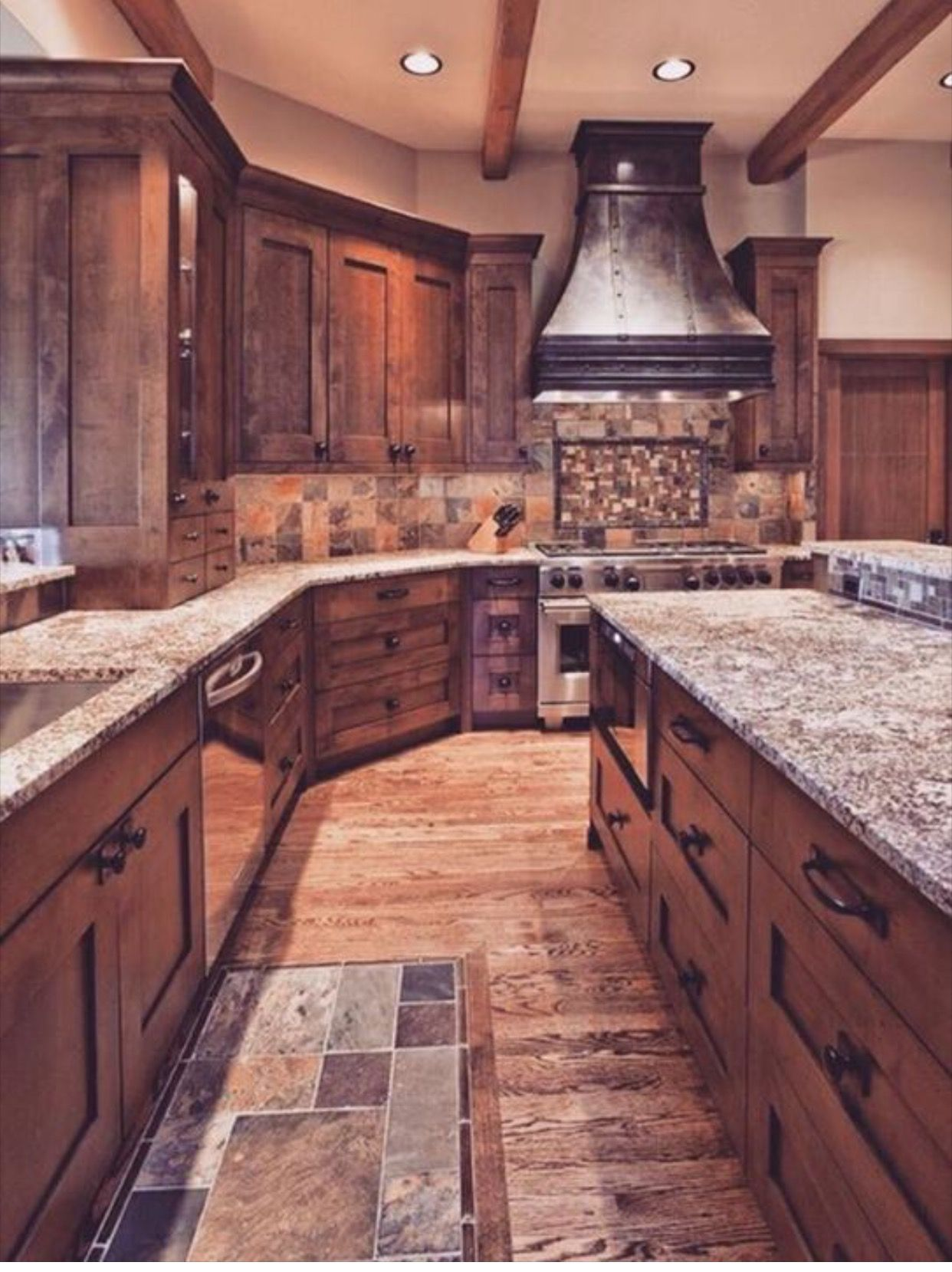 Oven Hood But Copper Rustic Kitchen Kitchen Design Beautiful Kitchens