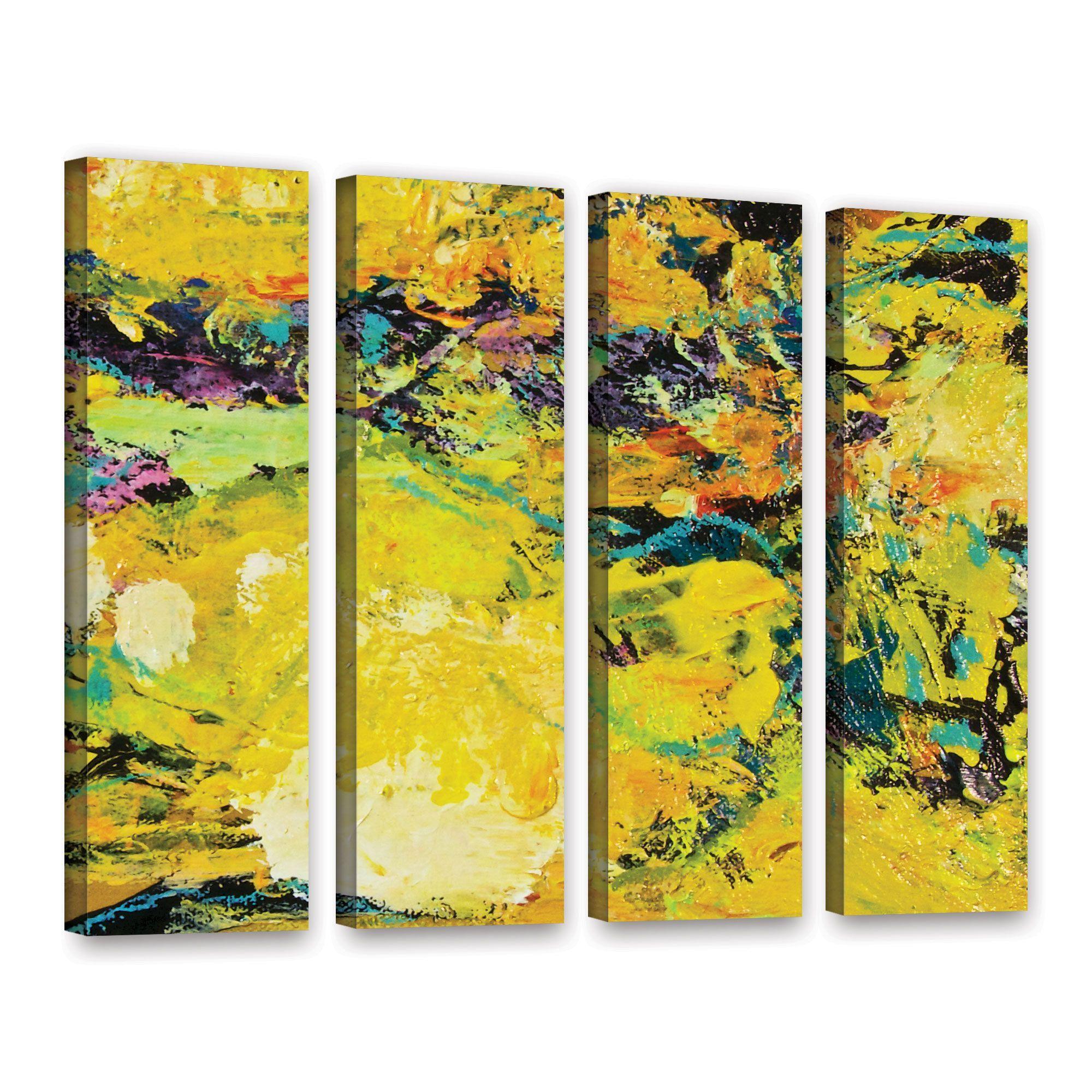 ArtWall Allan Friedlander \'Watermelon Patch\' 4 Piece Gallery-Wrapped ...