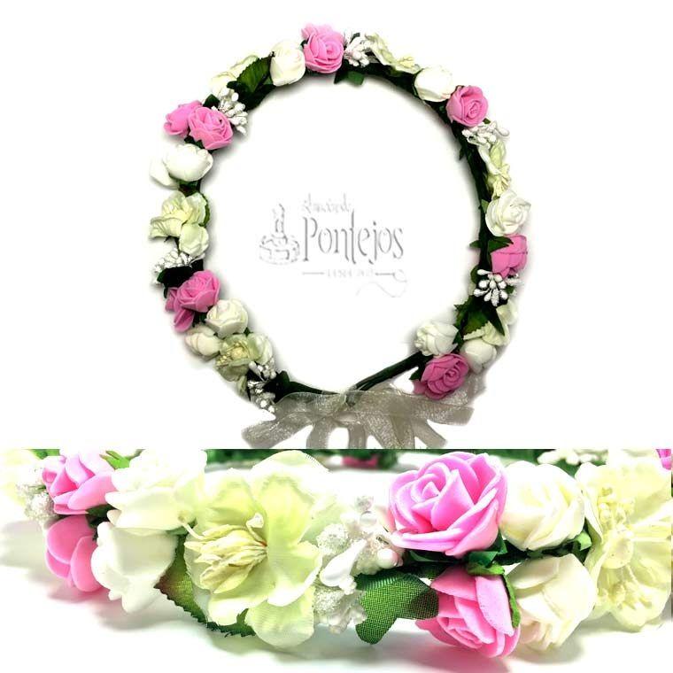 Corona de flores para eventos, bodas y fiestas