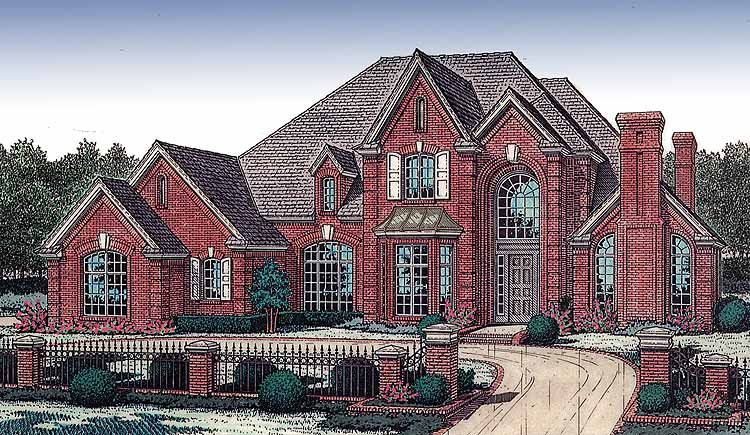 Plan 48067fm Dramatic Two Story Covered Entry In 2021 Dream House Plans House Plans Curved Staircase
