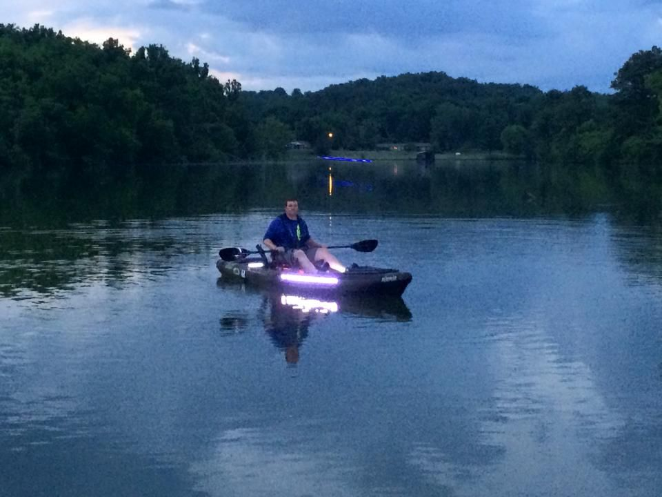 Great kayak LED lighting application on the water.