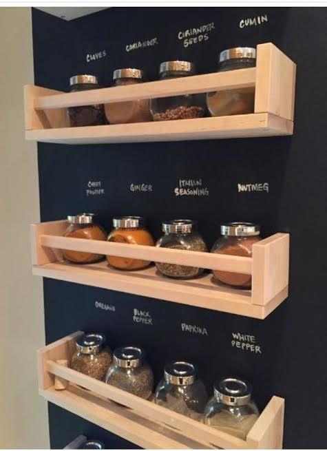 Ikea Spice Rack Idea This Is Great Just Paint Chalkboard Paint