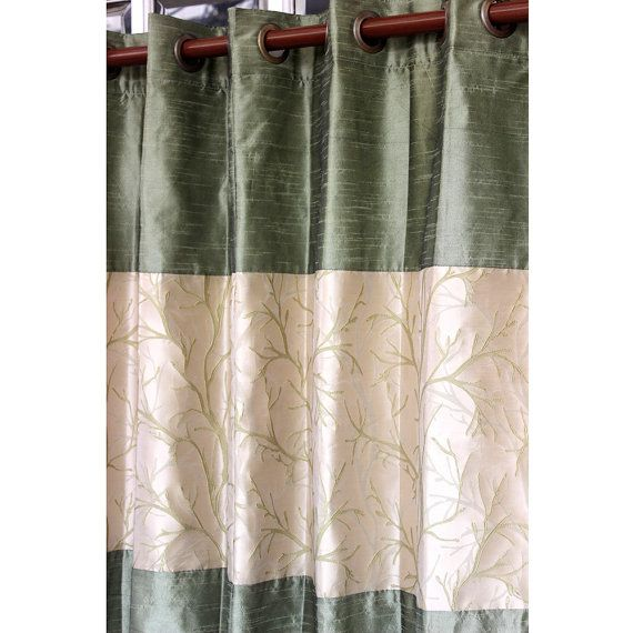 Green Tree Forest Curtain Panels 52x84 Grommet By TheHomeCentric, $114.00
