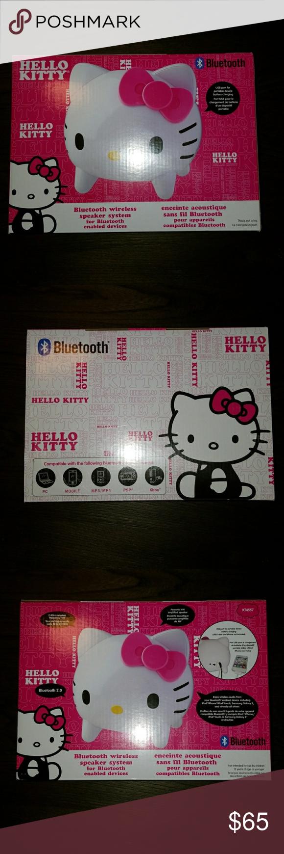 New Hello Kitty Bluetooth Wireless Speaker System Measures