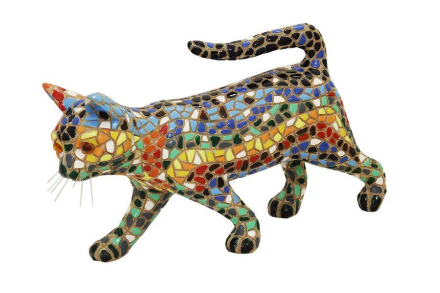 Статуэтка Кошка  17 см (h -10 см) BAR08297AL Barcino