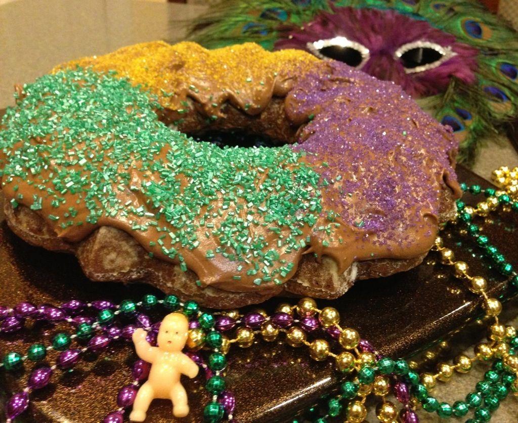 Mardi Gras King Cake II (Coconut Brownie)