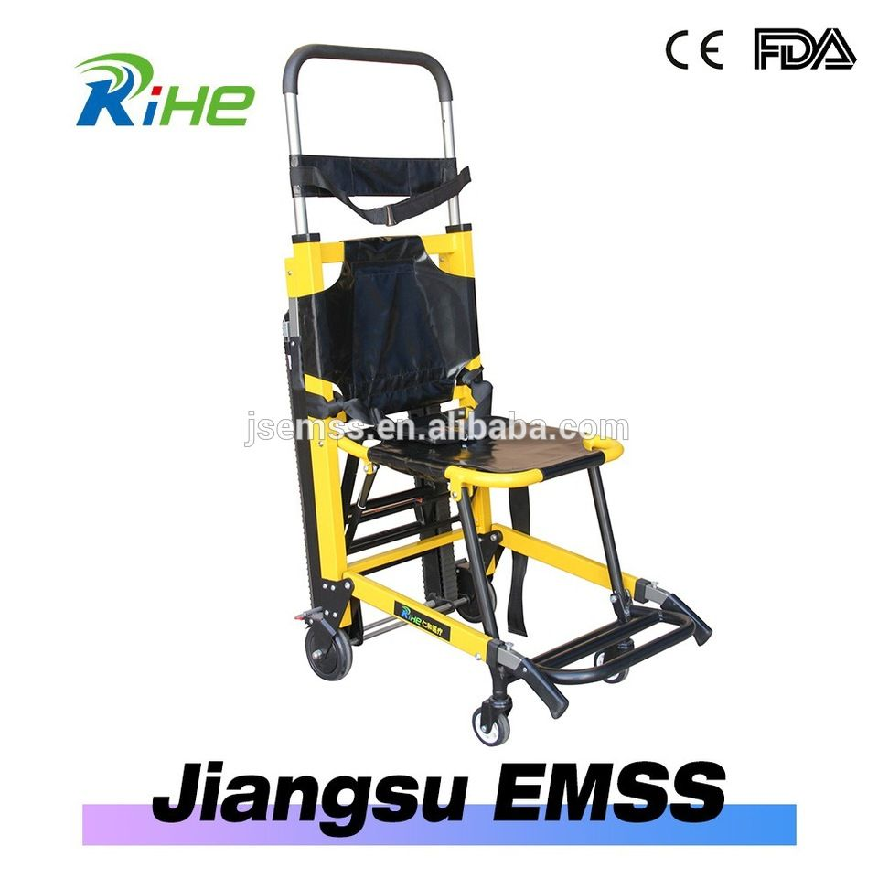 emergency stair chair. adjustable easy stair lift climber portable electric fold chair dolly for the elder stretcher is ideal in emergency evacuations,