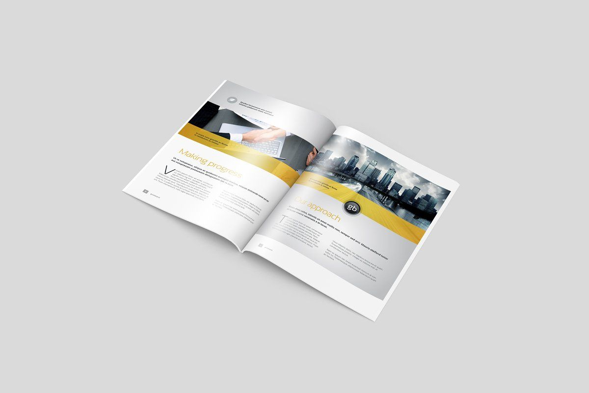 Download Mockup Brochure 3 Fold Yellow Images