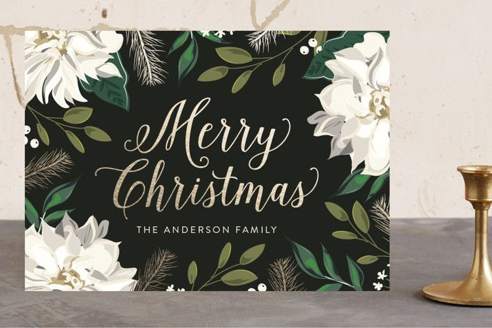 Christmas Floral Surround by Susan Moyal at minted.com
