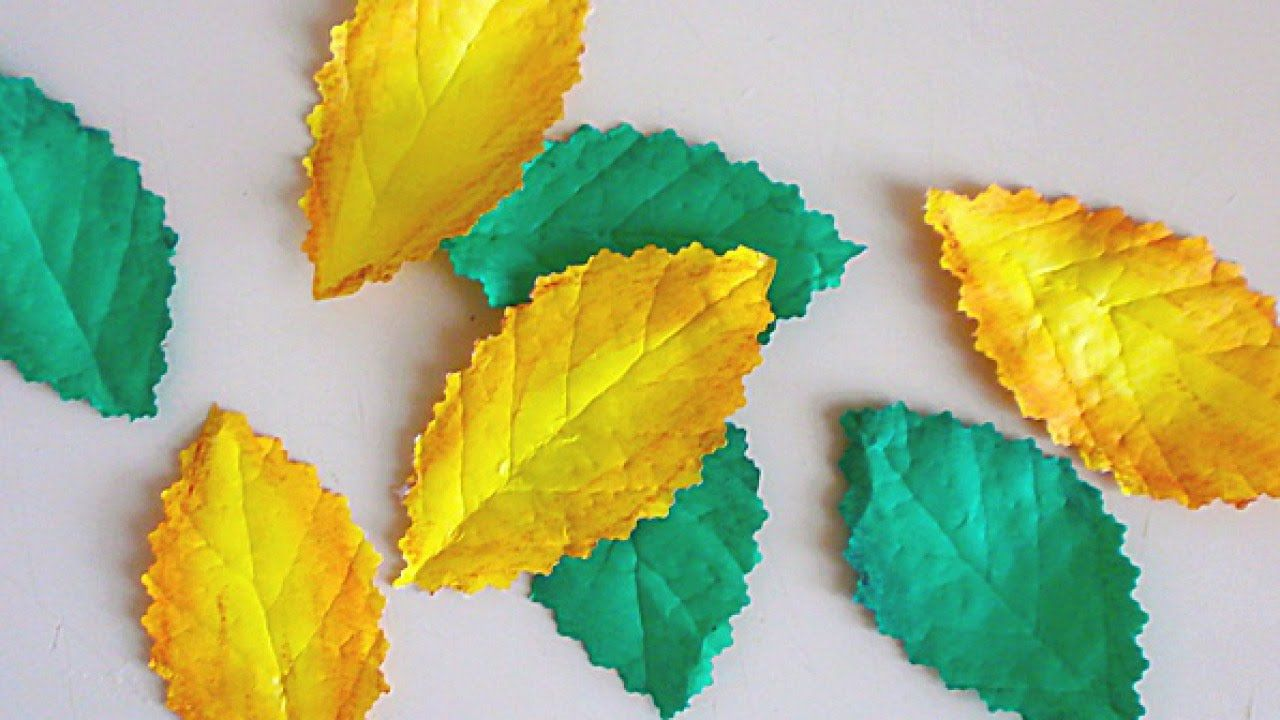 How to make realistic leaves from paper diy crafts tutorial how to make realistic leaves from paper diy crafts tutorial guidecen mightylinksfo