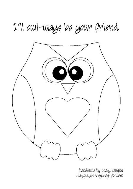 Owl Template Chelsey Jungck I Ll Owl Ways Be Your Friend Sister
