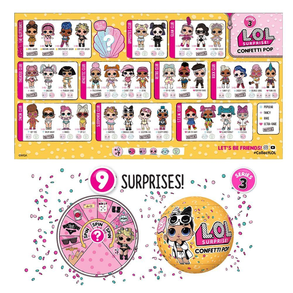 Lol Confetti Pop Series 3 Fun For Kids Lol Dolls Lol Doll Party
