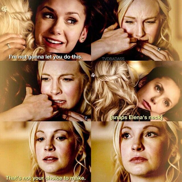 The Vampire Diaries 6x15: Caroline & Elena | All the girls turn into such bitches when they turn off their humanity