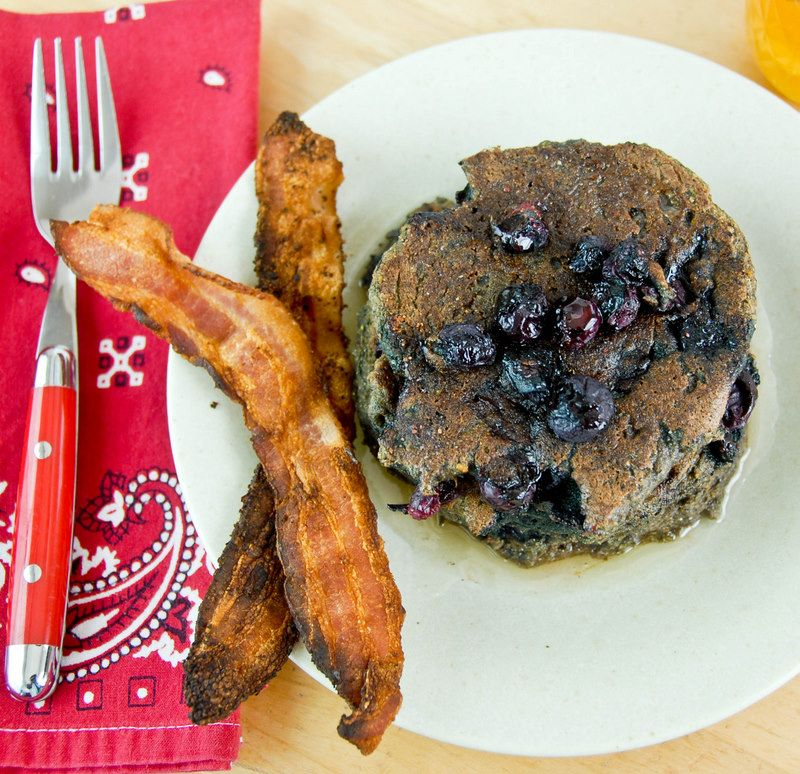 Mesquiteblue corn blueberry pancakes and chileinfused