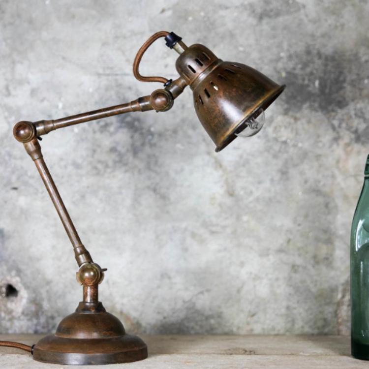 Brass Vintage Style Desk Lamp Allissias Attic Vintage French Style