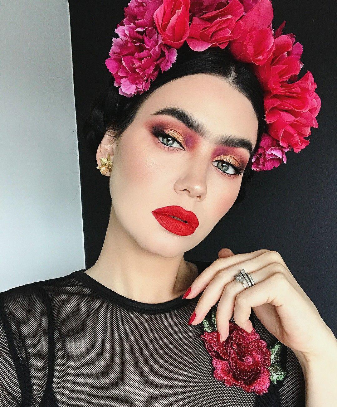 Frida Kahlo By Fashionista514 Halloween Disfraz Amigas Miedo Halloween Makeup Inspiration Frida Kahlo Makeup Halloween Makeup Looks