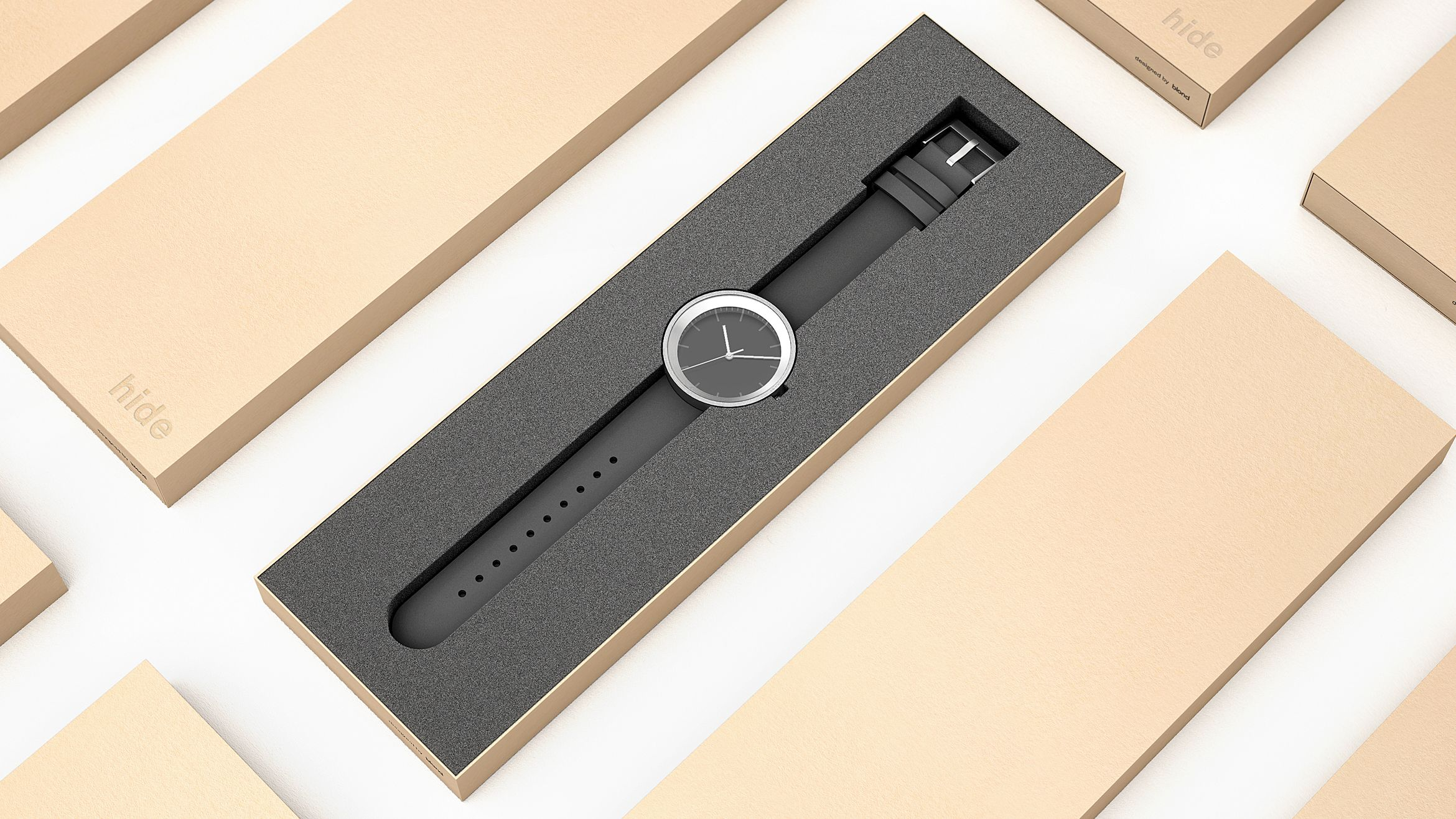 Blond product industrial design hide watch packaging for Industrial design packaging