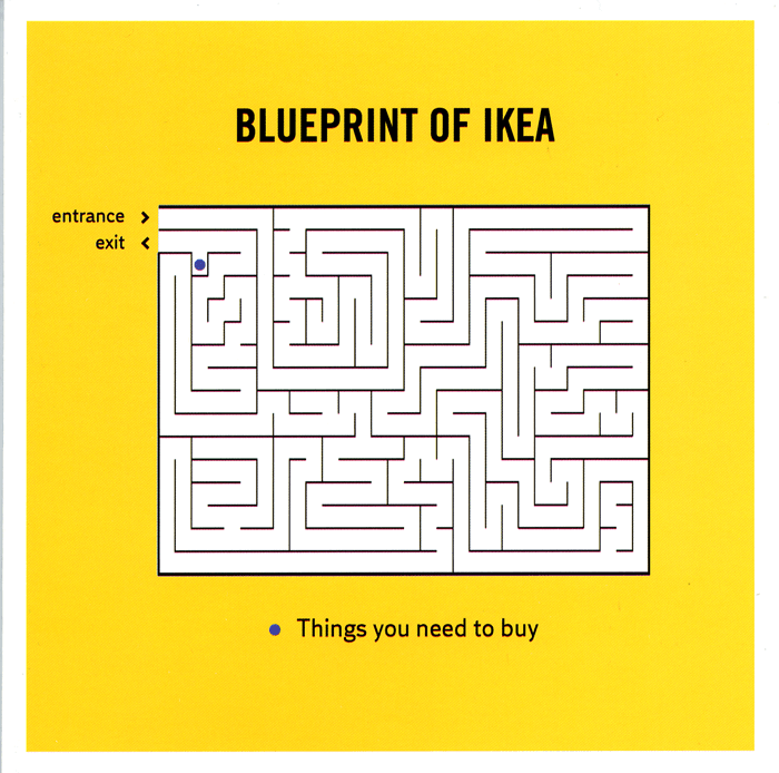Blueprint of ikea funny images meme and memes greeting card with a funny image showing a map of an ikea store revealing an endless maze hiding the bits you are interested in m4hsunfo