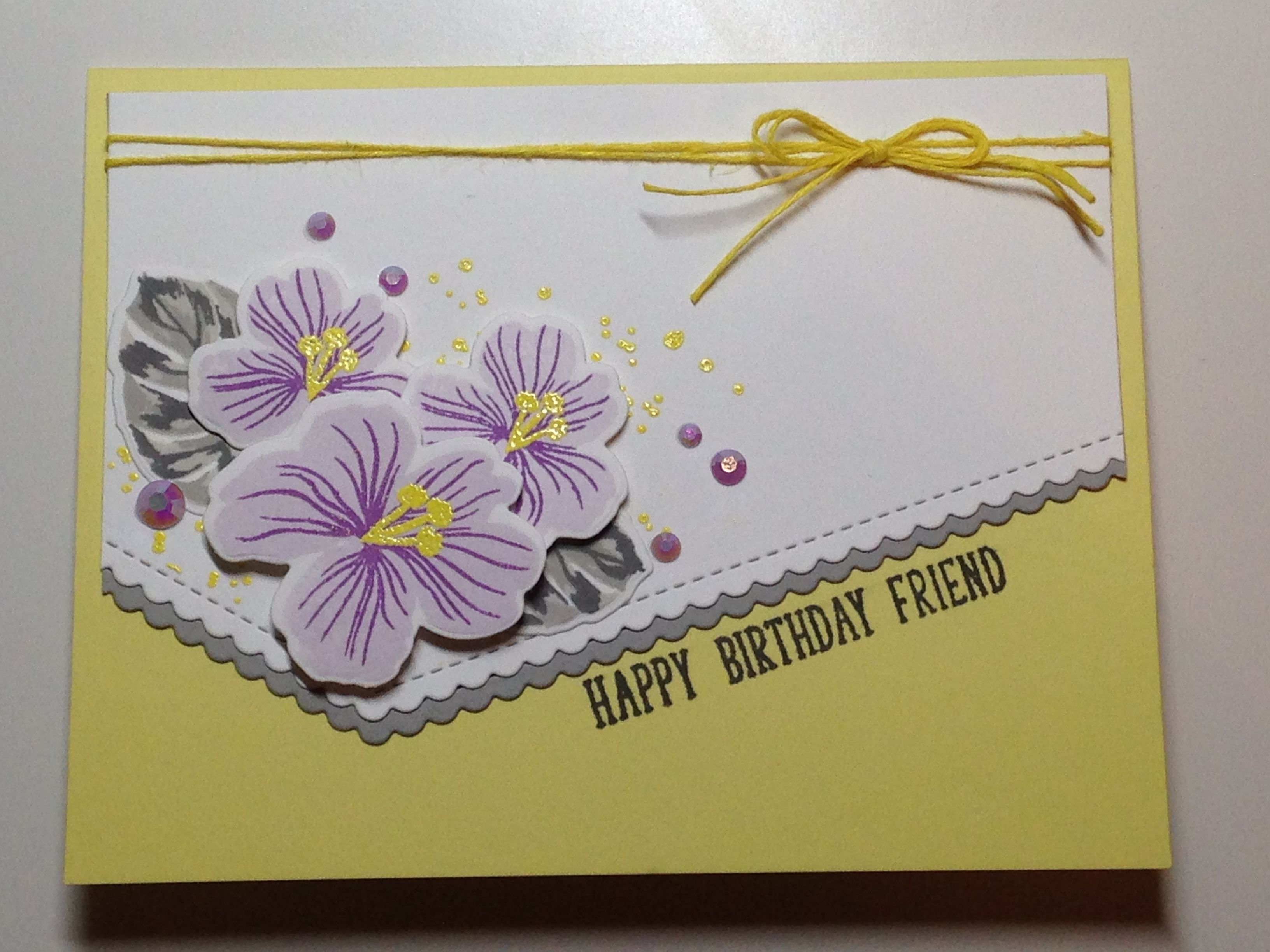 Birthday card stamps gina k tropical blooms stampin