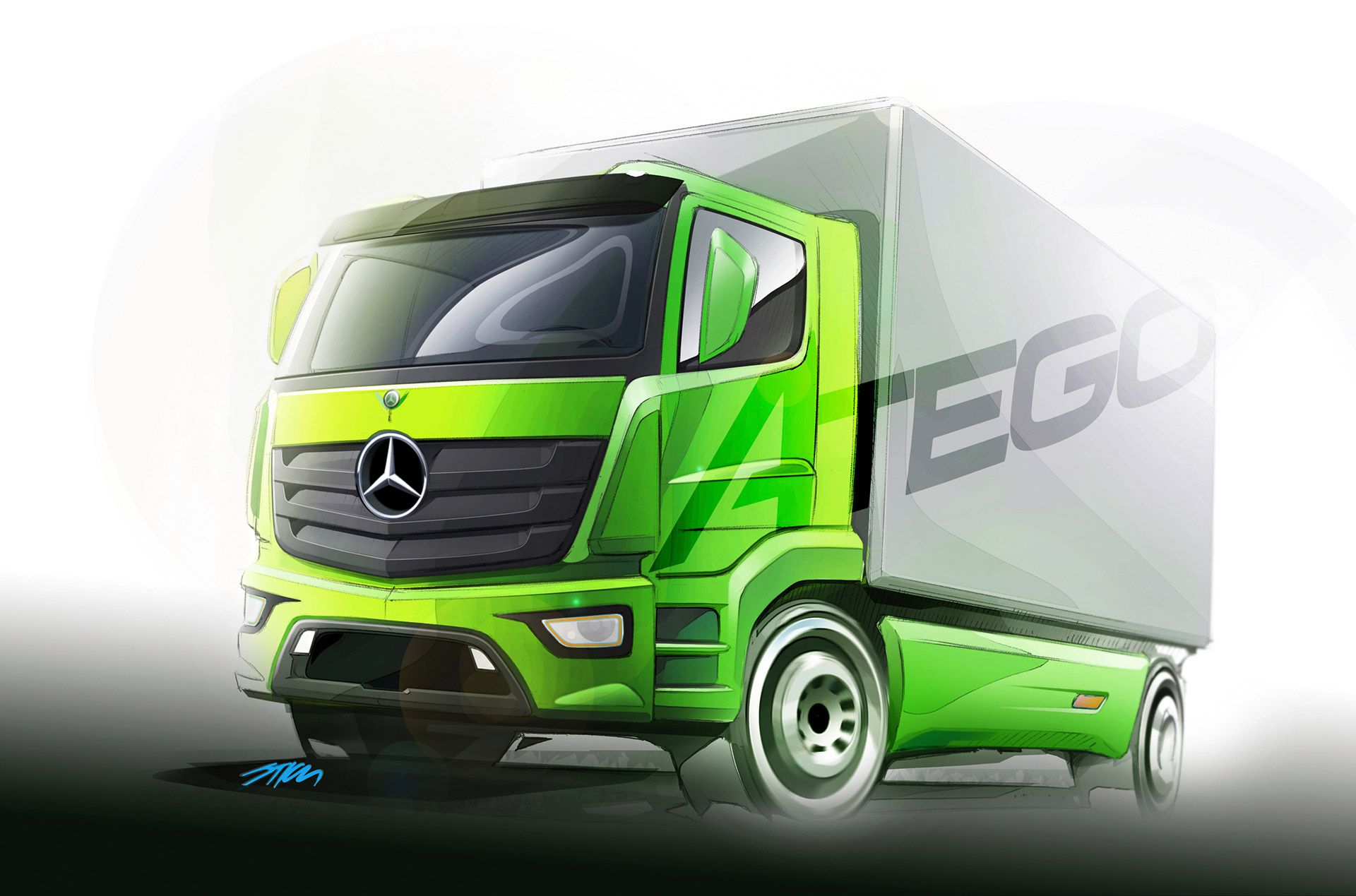 Mercedes Benz Atego Truck Design Sketch Nice Use For Glass