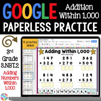 3rd Grade Addition Within 1 000 Digital Practice 3 Nbt 2 Google Classroom Google Classroom Google Classroom Reading Google Classroom Elementary