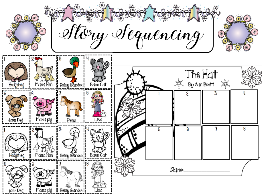 The Hat By Jan Brett Story Sequencing Jan Brett The Hat Story Sequencing Preschool Activities